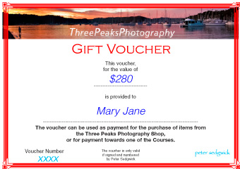 Three Peaks Photography  Gift Voucher Examples